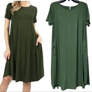Soft & Comfortable Short Sleeves Round Neck Dress